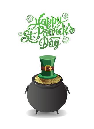 traditionally irish: Digitally generated St patricks day greeting vector Illustration