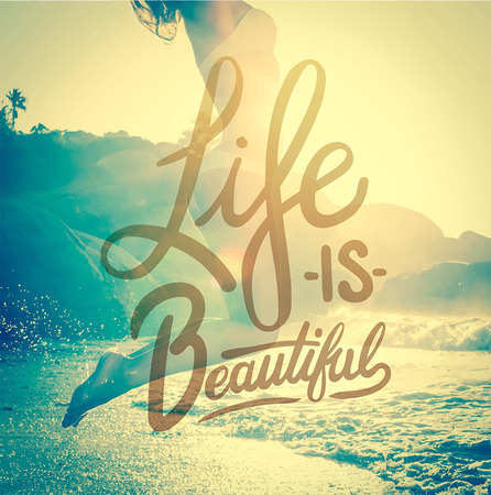 Digitally generated Life is beautiful vector Stock Vector - 38097257