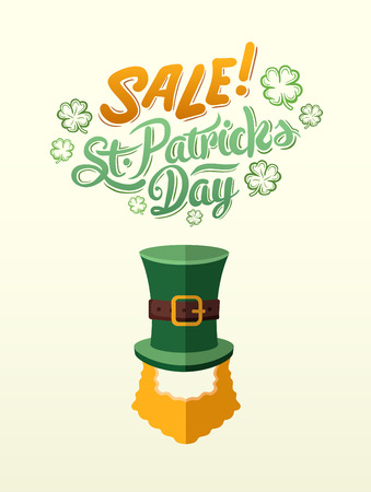 st  patty: Digitally generated St patricks day sale advertisement vector
