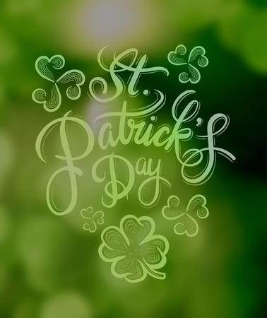saint patty: Digitale generato St Patricks auguri vettoriale