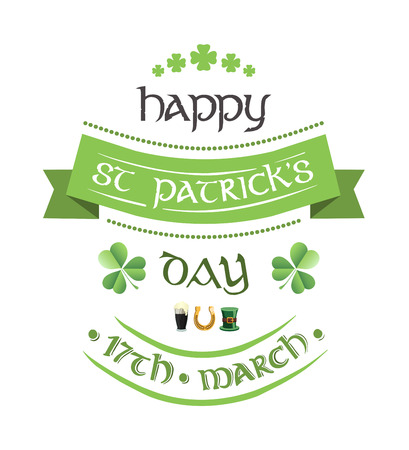 patty: Digitally generated St patricks day greeting vector Illustration