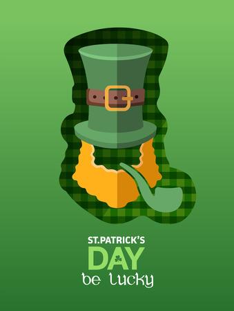 st  patty: Digitally generated St patricks day greeting vector Illustration