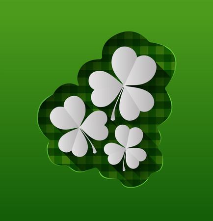 st  patty: Digitally generated St patricks day vector with shamrocks