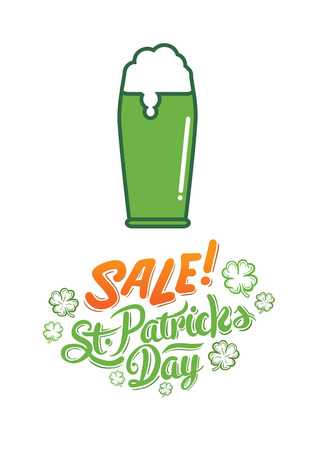 stout: Digitally generated St patricks day sale advertisement vector