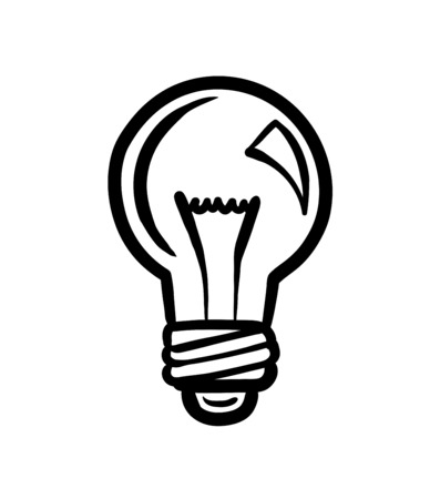 generated: Digitally generated Light bulb vector Illustration