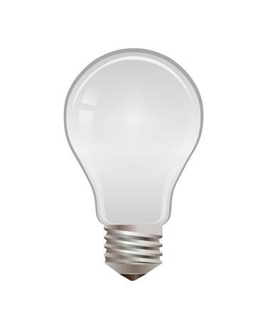digitally  generated: Digitally generated Light bulb vector Illustration