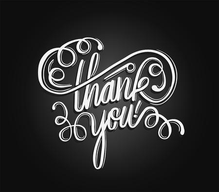 cursive: Digitally generated Thank you in cursive script vector
