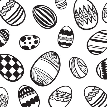 digitally: Digitally generated Easter egg pattern vector