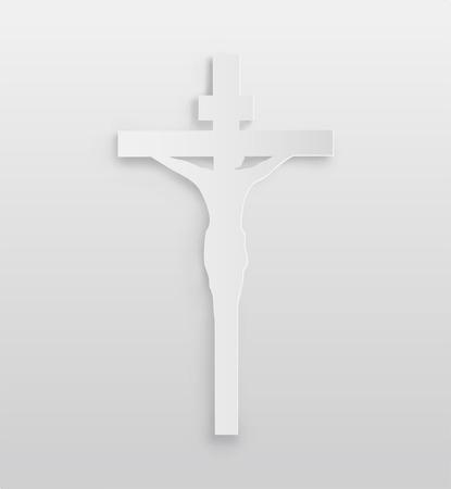 crucifix: Digitally generated White crucifix vector