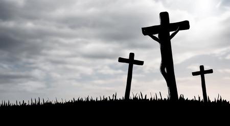 Digitally generated Jesus on the cross vector Stock Vector - 38098567