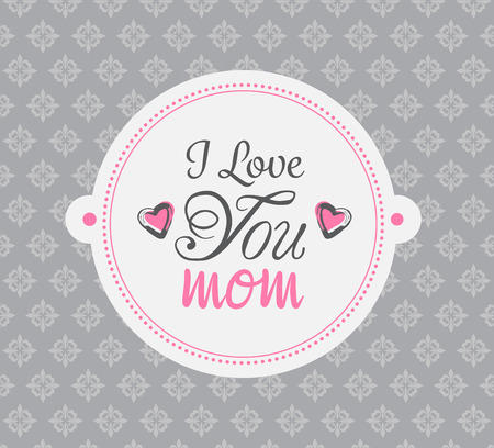 generated: Digitally generated Mothers day vector