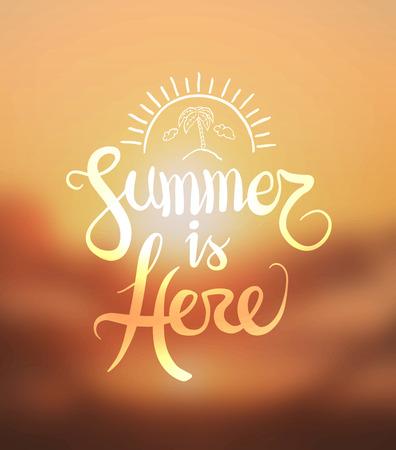 digitally: Digitally generated Summer is here vector
