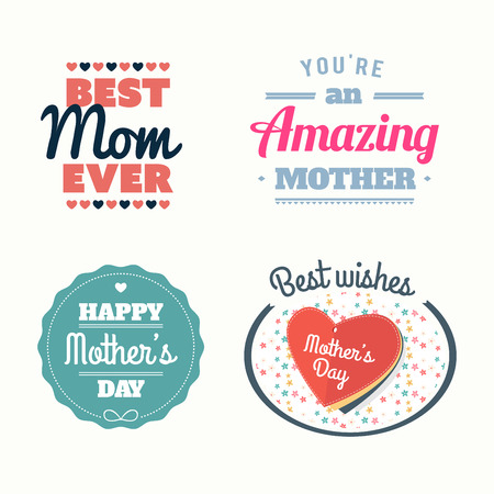 Digitally generated Happy mothers day vectors