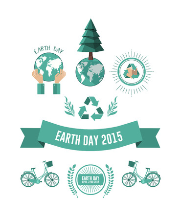 digitally  generated: Digitally generated Earth day vector Illustration