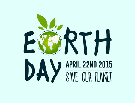 Digitally generated Earth day vector  イラスト・ベクター素材