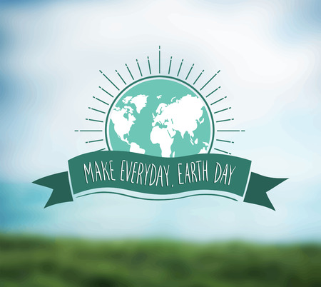 make my day: Digitally generated Earth day vector Illustration