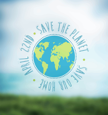 Digitally generated Earth day vector Illustration