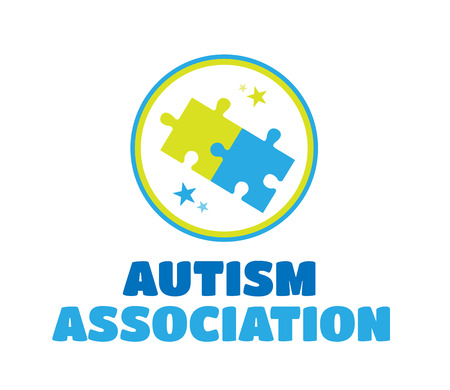 digitally  generated: Digitally generated Autism association vector with jigsaw