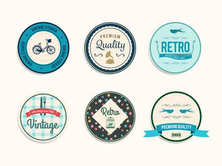 digitally: Digitally generated Retro styled retail badges vector Illustration