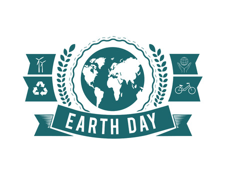 energies: Digitally generated Earth day vector Illustration