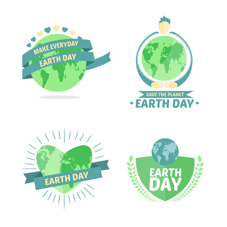 make my day: Digitally generated Earth day vectors