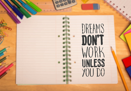 Digitally generated Motivational vector with dream text Vettoriali