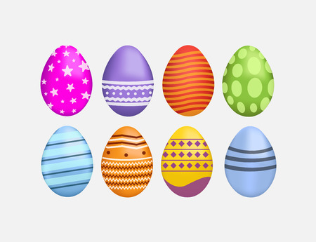generated: Digitally generated Easter eggs vector Illustration