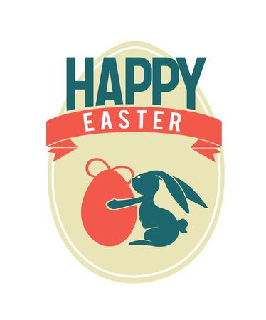 digitally: Digitally generated Happy Easter greeting vector