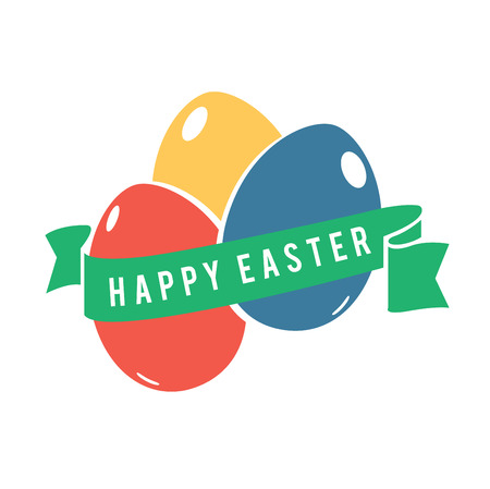 generated: Digitally generated Happy Easter greeting vector