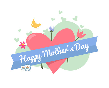 digitally: Digitally generated Happy mothers day vector