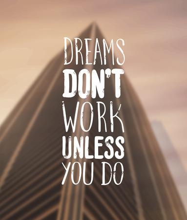 digitally: Digitally generated Motivational vector with dream text Illustration