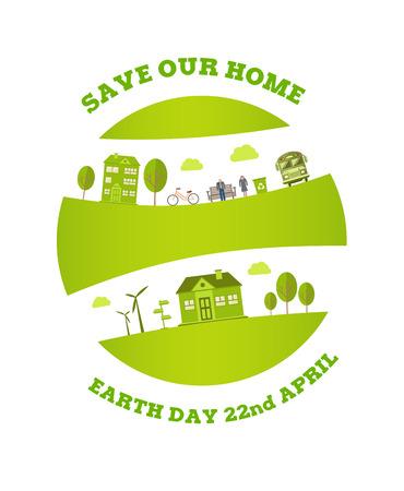 digitally: Digitally generated Earth day vector Illustration