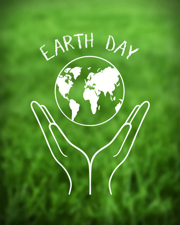 generated: Digitally generated Earth day vector Illustration