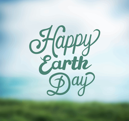 Digitally generated Earth day vector Vectores