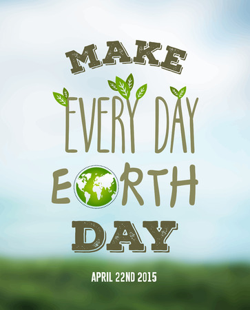 earth day: Digitally generated Earth day vector Illustration