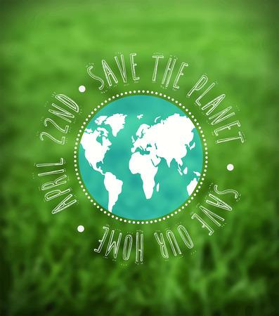 Digitaal gegenereerde Earth day vector