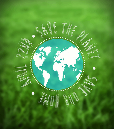 digitally: Digitally generated Earth day vector Illustration