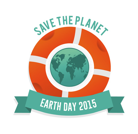 digitally generated: Digitally generated Save the planet earth day