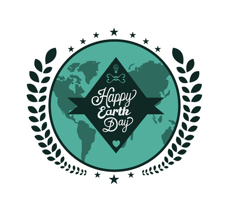 generated: Digitally generated Earth day vectors