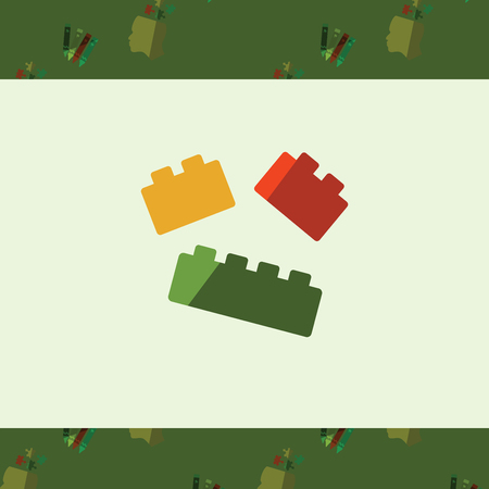 Vector of greeting card with lego symbol