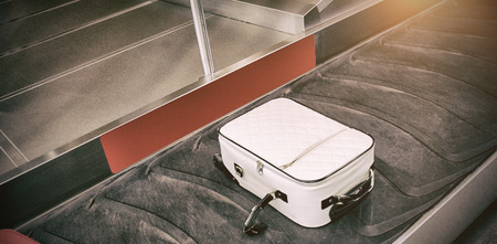 High angle view of baggage claim at airport
