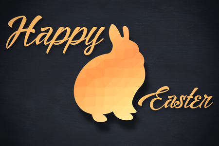three wishes: Happy easter logo against black background