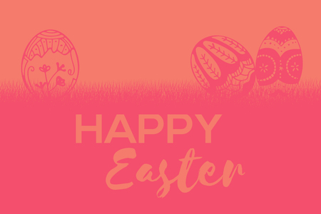 Composite image of easter greeting against orange paper Stock Photo