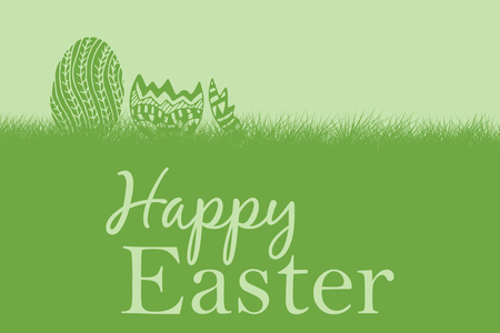 hospital stretcher: Composite image of easter greeting against green background