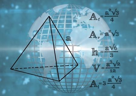 三角形については、グラフィックと 3 D の技術の地球のデジタル合成