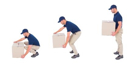 e commerce: Digital composite of taking a box
