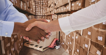 delivery room: Digital composite of HandShakes_2015warehouse 7