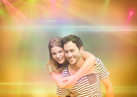 Digital composite of Couple in the disco