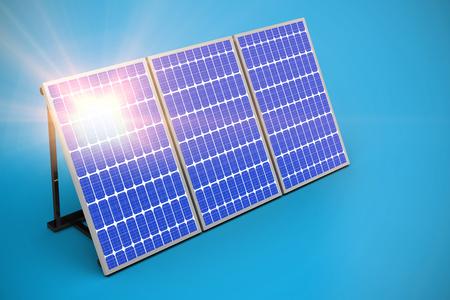 Digitale composito di 3d pannello solare contro sfondo grafico Archivio Fotografico - 75824458