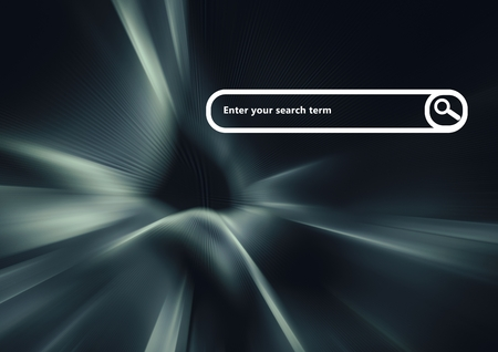 computer education: Digital composite of Search Bar with dark virtual background